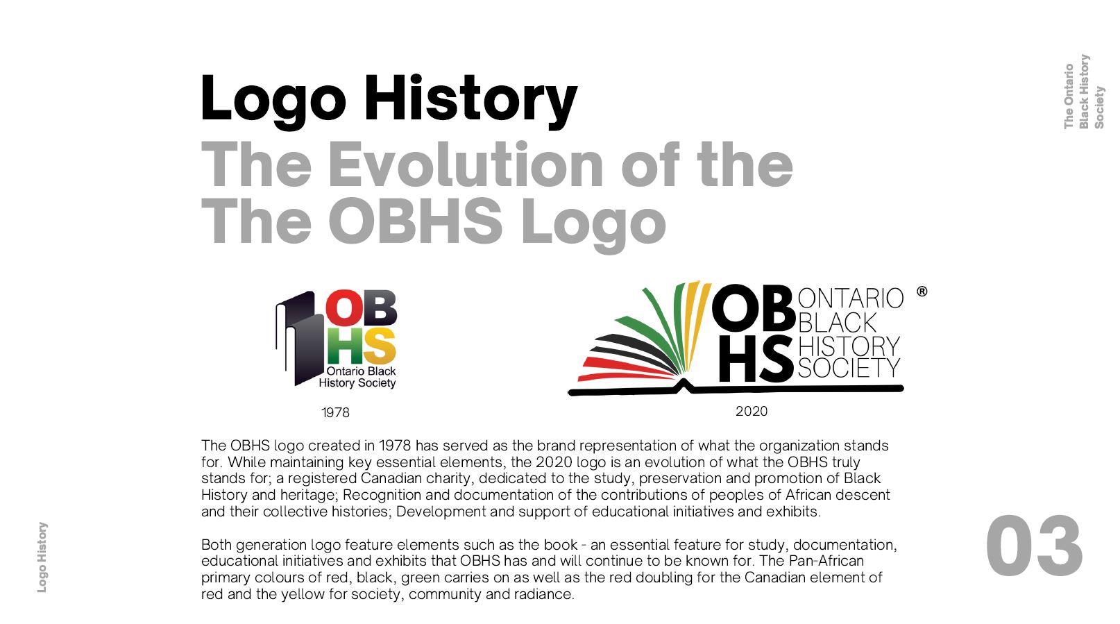 Ontario Black History Society Rebranding// Full Project here: https://www.canva.com/design/DAEIfKy5L6I/UqSmG78rYQqjPRy4MICjbg/view?utm_content=DAEIfKy5L6I&utm_campaign=designshare&utm_medium=link&utm_source=publishsharelink